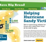 A landing page created  to help relieve Hurricane Sandy victims